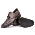 Sapato Social Masculino Kire Gel Em Couro Ref-3901 Café