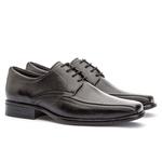 Sapato Social Masculino Kire Gel Em Couro Ref-3901 Preto