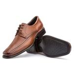 Sapato Social Masculino Kire Gel Em Couro Ref-3901 Whisky