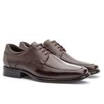 Sapato Social Masculino Kire Gel Em Couro Ref-3902 Café