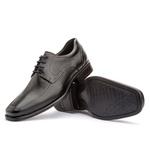 Sapato Social Masculino Kire Gel Em Couro Ref-3902 Preto