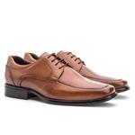 Sapato Social Masculino Kire Gel Em Couro Ref-3902 Whisky