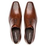 Sapato Social Masculino Leblon Em Couro Ref-655 Whisky