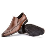 Sapato Social Masculino Leblon Em Couro Ref-667 Whisky
