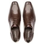 Sapato Social Masculino Leblon Em Couro Ref-695 Café