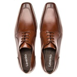 Sapato Social Masculino Leblon Em Couro Ref-695 Whisky