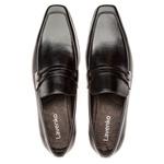 Sapato Social Masculino Slim Em Couro Ref-812 Preto