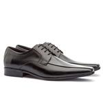 Sapato Social Masculino Slim Em Couro Ref-864 Preto