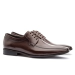 Sapato Social Masculino Stuart Em Couro Ref-2100 Café