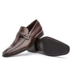 Sapato Social Masculino Stuart Em Couro Ref-2106 Café
