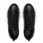 Tênis Sneaker Chunky Com Pedraria J699 Preto