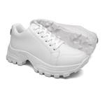 Tênis Sneaker Chunk Com Pedraria J699 Branco
