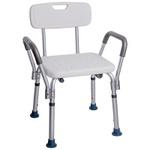 Cadeira Para Banho Com Encosto e Braço