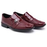 Kit 2 Pares Sapatos Sociais Infantil Masculino Verniz Com 2 Cintos 444 Preto/Vermelho