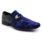 Sapato Social Masculino Camurça E Verniz 108 Azul