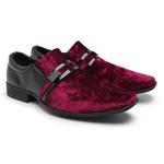 Sapato Social Masculino Camurça E Verniz 108 Vermelho