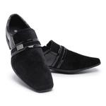 Sapato Social Masculino Camurça E Verniz 108 Preto