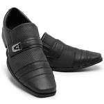Sapato Social Masculino Moderno 834 Preto Fosco