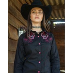 Camisa Feminina M Ranch Western Pink Dream