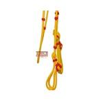 Cabeçada De Corda Amarela Com Detalhe Vermelho