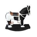 Cavalinho De Balanço Preto E Branco