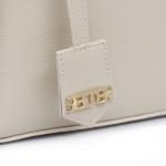 Bolsa Transversal + Bolsa Tampa Kit com Carteira Creme