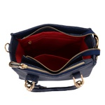Kit de Bolsa Feminina Azul Escuro Transversal com Bolsa Tiracolo e Carteira - Selten