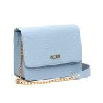 Bolsa Feminina Alça De Corrente + Bolsa Tote + Carteira Selten Azul Claro