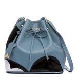 Bolsa Feminina Saco Transversal Mickey Azul Claro