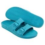 Kit de Sandália Feminina Birken Azul e Chinelo Feminino Branco - Selten