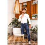 Calça Jeans Masculina Slim Manchada