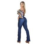 Calça Flare Feminina Cós Alto Empina Bumbum - Selten
