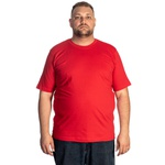 Camiseta Masculina Plus Size Vermelha -Selten