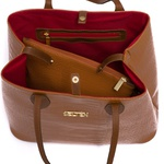Bolsa Feminina Kit Com 3 Bolsas Grande Pequena E Necessaire Marrom