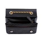Bolsa Clutch Preta Pequena de Lado Alça de Corrente Dubai