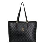 Kit de Bolsa Feminina com 2 Bolsas e Carteira Preta Dubai - Selten