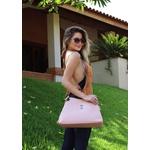 Kit de Bolsa Feminina Com Bolsa de Ombro Milão e Mochila Rosa - Selten