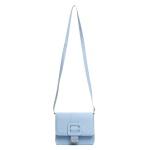 Kit de Bolsa Média + Pequena Com Fivela e Carteira Azul Claro