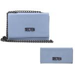 Kit de Bolsa Feminina Azul com Carteira Havai - Selten