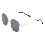 Óculos De Sol Feminino Hexagonal Selten + Porta Óculos