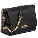 Bolsa Feminina Kit Com 3 Bolsas Grande Pequena E Necessaire Preta