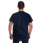 Camiseta Masculina Long Line Caveira Marinho -Selten