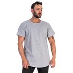 Camiseta Masculina Longline Cinza -Selten