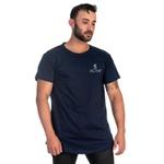 Camiseta Masculina Long Line Azul Original Selten -Selten