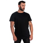 Camiseta Masculina Longline Preta -Selten