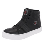 Bota Sneaker Preta em Couro Legítimo - Selten
