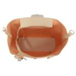 Bolsa Feminina Grande De Ombro Com Porta Óculos Creme Selten