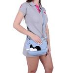 Bolsa Transversal Feminina Tampa Mickey Azul Claro