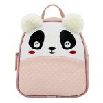 Mochila Escolar Infantil Rosa Panda com Orelhinhas - Selten