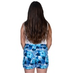Short Bermuda Praia Summer Kit Casal Azul Floral